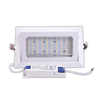 Jandei Downlight LED wpuszczony prostokątny wahacz, 30W 3100 Lumens, White Frio 6000K, White Hoop do sklepu, ekspozycja