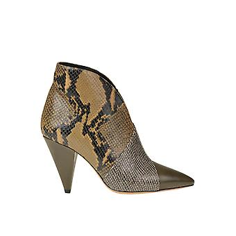 Isabel Marant Ezgl287040 Women's Brown Leather Ankle Boots