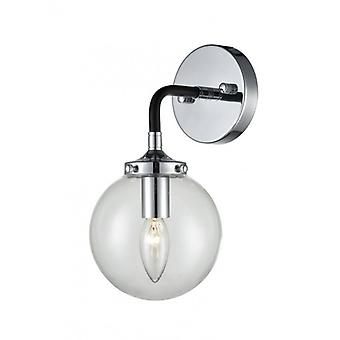 Wall Lamp Black / Silver Reaction 1 Bulb