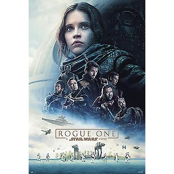Rogue One: A Star Wars Story Poster One Sheet Jyn Erso, K-2SO, Baze Malbus, Chirrut Imwe, Cassian Andor, Bodhi Rook. 101,6 x 68,5 cm