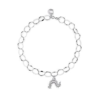 The Very Hungry Caterpillar Sterling Silver Single Charm Bracelet