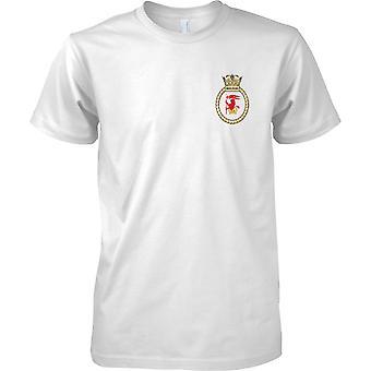 HMS Iron Duke - nuvarande Royal Navy fartyg T-Shirt färg