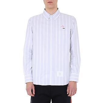 Thom Browne Mwl272e06120035 Heren's Grijs Katoen Shirt