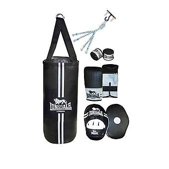 Lonsdale contendiente Boxset Punch Bag Mitts Hook y Jab Pads Hand Wrap Training