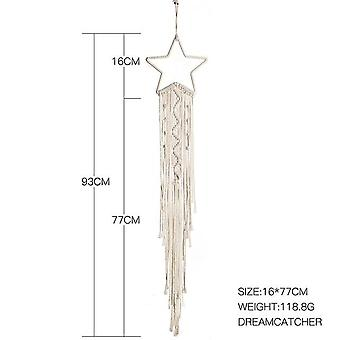 Nordic Star Moon Macrame Wall Hanging Macrame - Dream Catchers Boho Decor Room Decoration