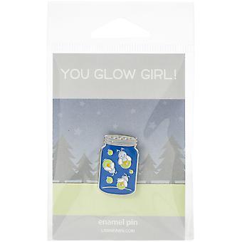 Lawn Ornaments Enamel Pin-You Glow Girl