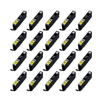 RudyTwos 20 x reemplazo para Canon CLI-551YXL tinta unidad amarillo Compatible con Pixma iP7250, iP8750, iX6850, MG5450, MG5550, MG6350, MG6450, MG7150, MX725, MX925