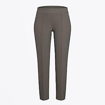 Cambio - Rubia - Slim Fit Stretch Trousers - Taupe