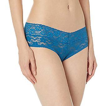 Marque - Mae Women's Standard 3 Pack LACE Cheeky, Praline, Blue Sapphir...