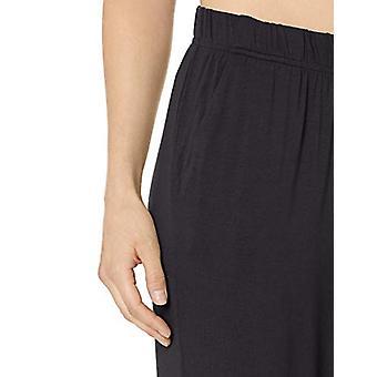 Essentials Naiset's Neulo Sleep Pant, Musta, Pieni
