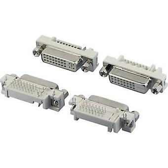 W & P productos 507-29-2-2-20 DVI conector zócalo, horizontal montaje número de pernos: 29 PC Silver 1