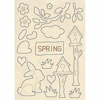 Wooden Shapes A5 Spring (KLSP051)