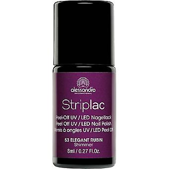 StripLAC Peel Off UV LED Nail Polish - Elegant Rubin 8ml (53)