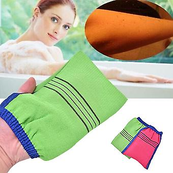Two Sided Shower Spa Exfoliator - Bath Glove For Body Cleaning Scrubbing - Dead