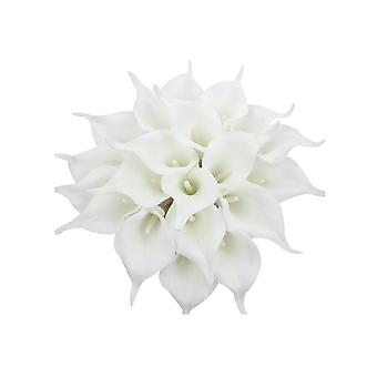 20psc Natural Dry Flowers Wedding Bouquet Decoration White