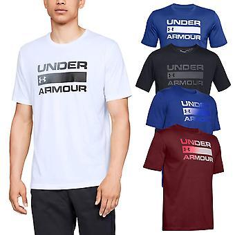 Under Armour mens 2020 team probleem Wordmark SS gedrukte bemanning T-shirt
