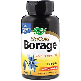 Nature's Way, EfaGold, Borage, 1.300 mg, 60 Softgels