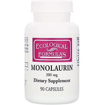 Recherche cardiovasculaire, Monolaurin, 300 mg, 90 capsules