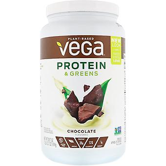 Vega, Protein & Greens, Chocolate Flavored, 1.8 lbs (814 g)