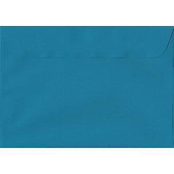 Benzina blu Peel/guarnizione C5/A5 buste blu colorato. 100gsm Swiss Premium carta FSC. 162 x 229 mm. portafoglio stile busta.