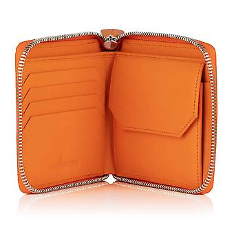 Orange Malvern Leather Men's Zipped Coin Wallet