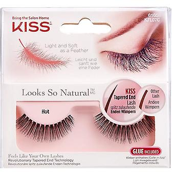 Kiss Looks So Natural Tapered End False Lashes - Hot - Lash Adhesive Included