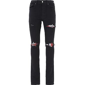 Amiri F0m01157sdblk Men's Black Cotton Jeans