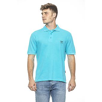 Turchese turquoise fitted men's t-shirt