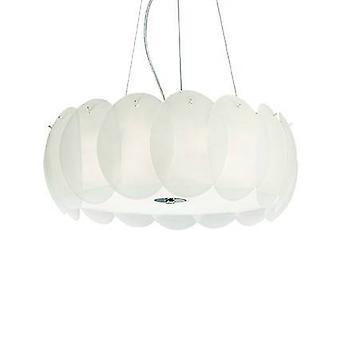 Ideal Lux Ovalino - 8 luz gran techo colgante blanco, E27