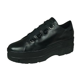 Geox D Roose B Womens Leather Shoes - Black