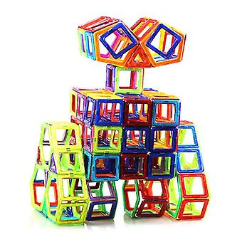 Set da costruzione di progettazione magnetica da 120 pezzi, giocattoli modello in plastica