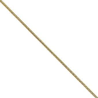 14kイエローゴールドソリッドポリッシュロブスタークロークロークロークロー2.5mmフランコチェーンブレスレットジュエリーギフト女性のための - 長さ:7〜8