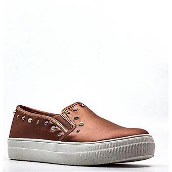 Material Girl | Grace Satin Slip-On Sneakers
