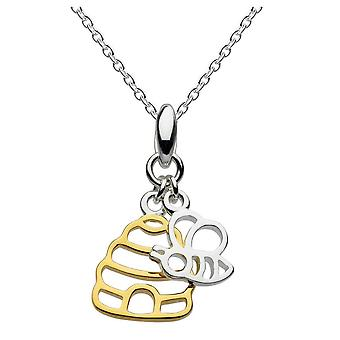 Dew Silver Honey Bee Yourself Bee And Gold Plate Hive Pendant 9466GD015