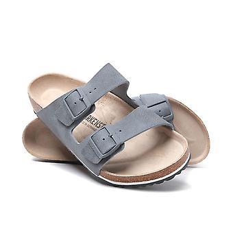 Birkenstock Arizona Desert Soil Grey Leather Sandals