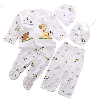 Newborn Baby Unisex Clothes Underwear Animal Print Shirt And Pants Cotton Soft