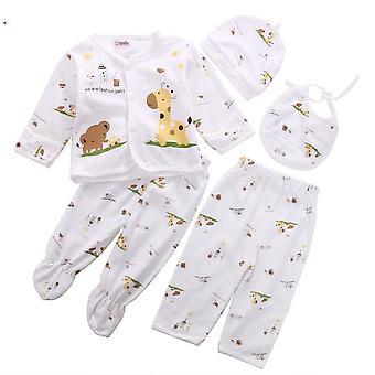 Nyfødte Baby Unisex tøj undertøj Animal Print shirt og bukser Bomuld Blød