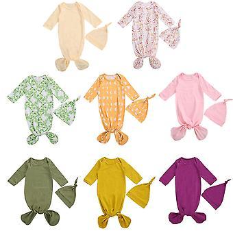 Bambino Ragazze Ragazzi Sleeping Bags Stampa Manica Lunga Sleepwear - Cappello