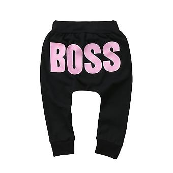 Baby / Letter Boss Pants- Cotton Baby Harem Pants For Baby Casual Trousers /
