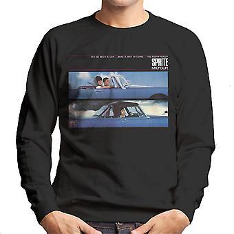 Austin Healey Sprite Mk IV A Way Of Living British Motor Heritage Men's Sweatshirt