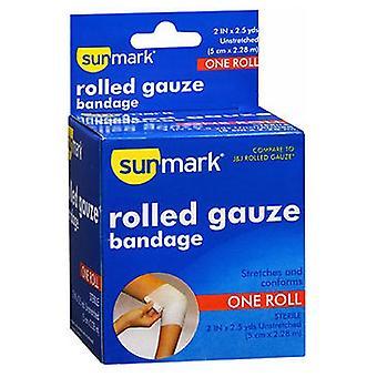 Sunmark Rolled Gauze Bandage, 2 Inches X 2.5 Yards 1 each