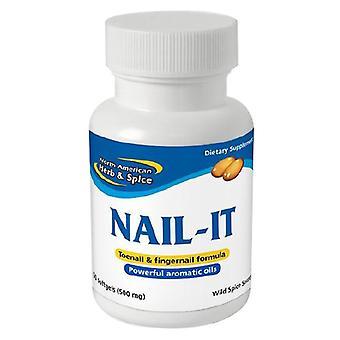 North American Herb & Spice Nail It Gel Caps, 60 cap
