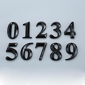 Black Plastic Door Number Stickers- Self Adhesive House Number Signs