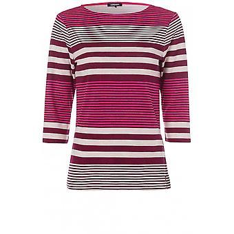 Olsen Raspberry Striped Top