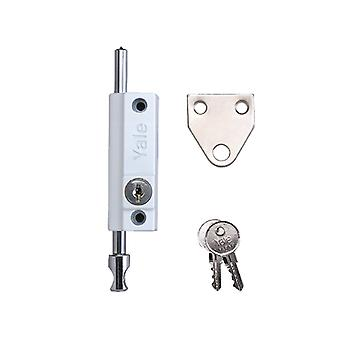 Yale Locks P124 Door Push Bolt White Finish Visi YALP124WE