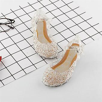 Kids Baby Girls Summer Crystal Sandals Pvc Transparent  Jelly Princess Height Increasing Shoes