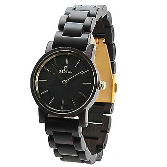 MONTRE DE BRACELET REDEAR SJ1624-G Ebony Wood Watch Casual Style Wooden Men Montre à poignet