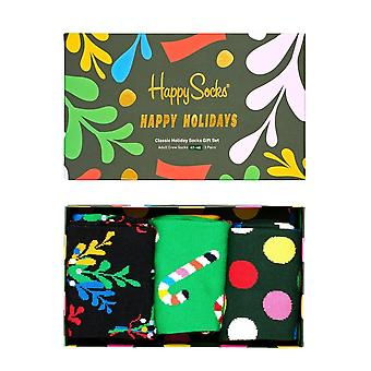 Happy Socks 3-Pack Holiday Socks Gift Box