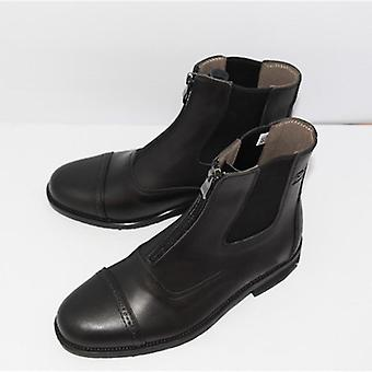 Full Leather Horse Riding Boots Men, Women Front Zipper, Quality Saddle Shoes,