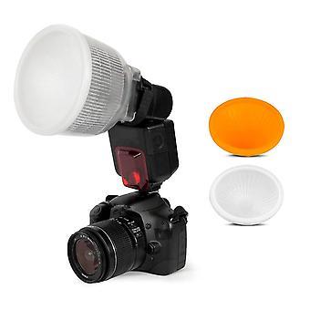 Shoot lambancy dome flash diffuser for canon 420ex 430ex 550ex 580ex 580ex ii 600ex nikon sb600 sb70